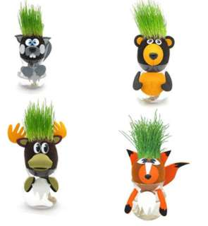 GROW A HEAD WOODLAND ANIMALS W/GRASS GROWING HAIR ASSORTMENT