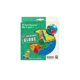 INFLATABLE GLOBE 12INCH DISCOVER EARTH-OCEANS-COUNTRIES