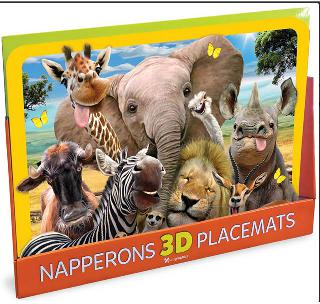 3-D PLACEMAT WILDLIFE ASSORTED 