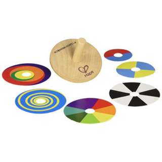 SWIRL A TOP WOODEN WITH 6 COLOR PLATES