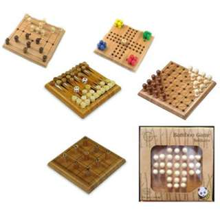 POCKET BAMBOO GAME SET 6 GAMES ASSORTMENT
