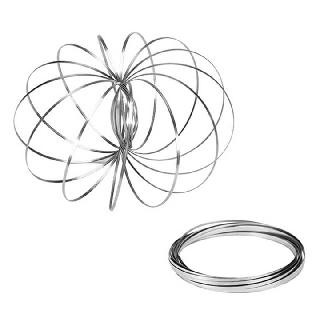 FLOW RING SPINNING TOY STAINLESS STEEL STRAND ASSORTED