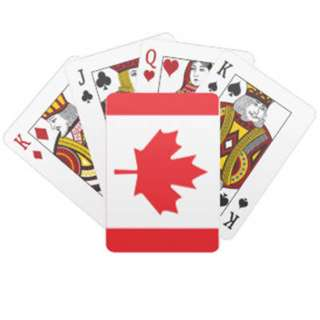 CANADA SOUVENIR FLAG PLAYING CARDS PLASTIC COATED