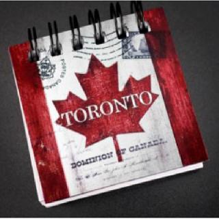 TORONTO SOUVENIR FRIDGE MAGNET NOTE PAD