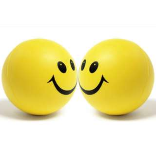 STRESS GEL BALL HAPPY FACE 