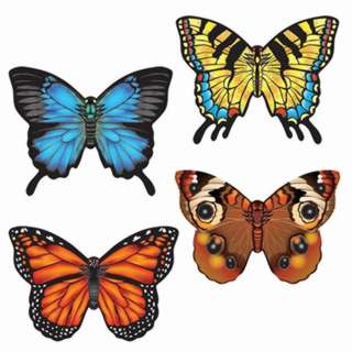 BUTTERFLY MICROKITE 4.7IN WIDE MINI MYLAR ASSORTED BUTTERFLY