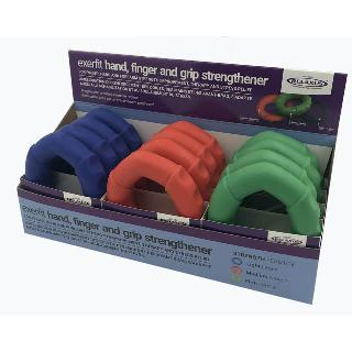 HAND STRENGTH/ANTI STRESS RINGS ASSORTED STRENGTHS/COLORS
