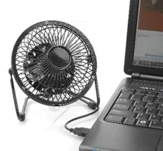 FAN MINI 4 INCH USB POWERED BLACK METAL