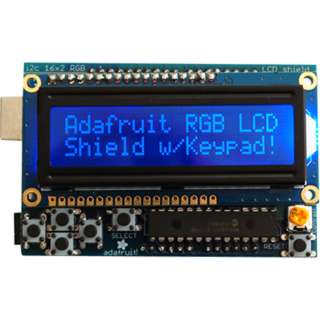 RGB LCD SHIELD KIT 16X2 CHARACTER NEGATIVE DISPLAY