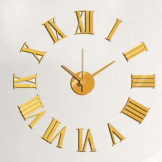 CLOCK WALL ROMAN DIY GOLD 24IN REQUIRES 1 AA BATTERY