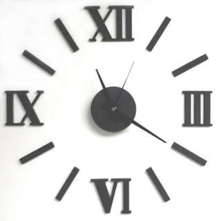 CLOCK WALL ROMAN DIY BLACK 20IN REQUIRES 1 AA BATTERY