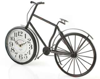 TABLE CLOCK VINTAGE BICYCLE 