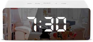 CLOCK ALARM MIRROR DIGITAL USB POWERED