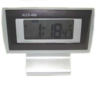 CLOCK ALARM DIGITAL SILVER SNOOZE STOPWATCH FUNCTIONS