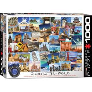 PUZZLE GLOBETROTTER WORLD JIGSAW 19.25 X26.6IN