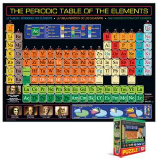 JIGSAW PUZZLE-THE PERIODIC TABLE OF THE ELEMENTS 100PCS 7X9IN