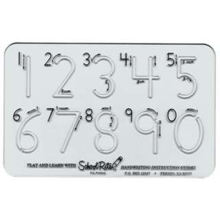 TEMPLATE FOR NUMBERS 0 TO 9 1.5IN