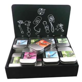 POCKET BRAIN TEASER IN TIN BOX METAL