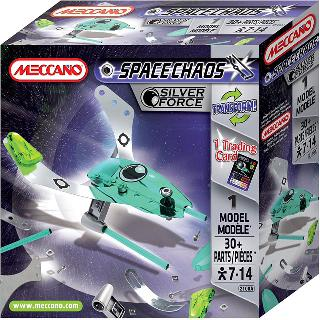 MECCANO SPACECHAOS-SILVER FORCE DRONE 30PARTS 1 MODEL ASSOR