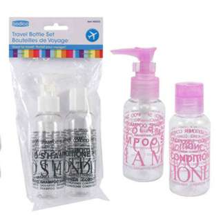TRAVEL BOTTLE 100ML 2PCS/SET ASSORTED COLORS & STYLES