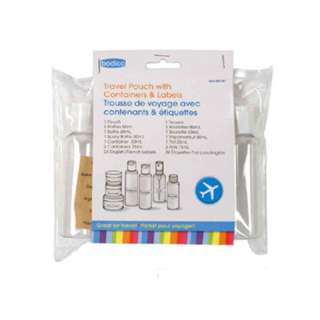 CARRY-ON KIT FOR TRAVEL WITH CONTAINERS AND LABLES