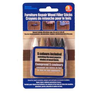 WOOD FILLER STICKS FOR FURNITURE REPAIR ASSORTED COLORS