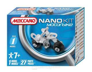 MECCANO NANO KITS-MOTORBIKE 1 MODEL 27 PARTS