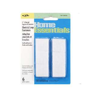 VELCRO HOOK & LOOP SQUARE 1INCH ADHESIVE WHITE