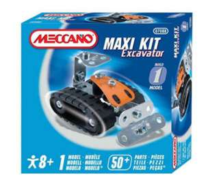 MECCANO MAXI KIT-EXCAVATOR 1 MODEL 50+ PARTS