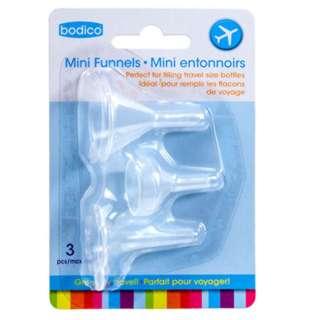 FUNNELS MINI ASSORTED SIZES FILLING TRAVEL BOTTLES 3PCS/PACK