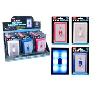 NIGHT LIGHT SWITCH W/6 LED INCLUDES 3 AAA ASSORTED COLORS