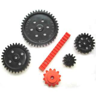 GEAR ASSORTED PACK 1 BEVEL GEAR 1 GEAR RACK 1 SET OF 4 GEARS