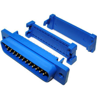 DB25M IDC PLASTIC W/LIP BLUE 