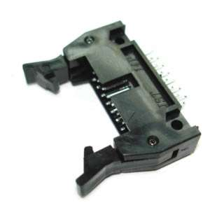 HDR SHRD LATCH 14 W/KEY PCST BLACK
