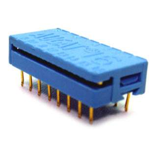 DIP PLUG IDC16 PCST 7.62MM BLUE 