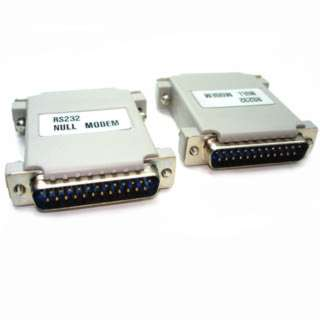 NULL MODEM ADAPTER DB25M/25M 