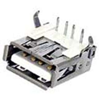 USB CONN A FEM PCRA SHIELDED WHITE USB2.0