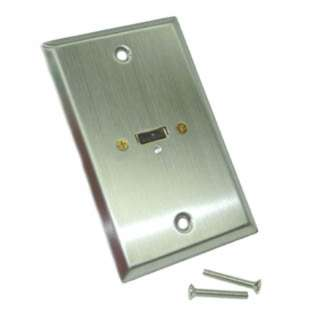 WALL PLATE USB A FEM METAL STAINLESS STEEL