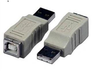 USB ADAPTER A-MALE TO B-FEMALE 