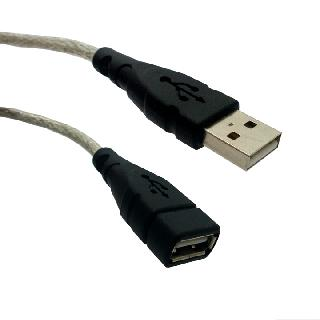USB CABLE A-A MALE/FEM 3FT SILVER