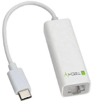 USB ADAPTER 3.1 TYPE C TO RJ45 WHITE FOR ETHERNET ADAPTER