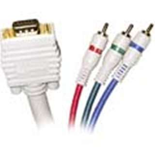 COMPONENT VIDEO CABLE TO VGA 6FT DB15HD MALE TO 3XRCA MALE