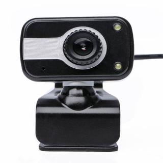 WEBCAM USB 480P WITH MIC BLACK 2 LIGHTS STAND AND CLIP
