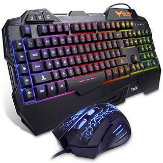 GAMING KEYBOARD MOUSE HEADSET COMBO USB2.0 BACKLIT RAINBOW