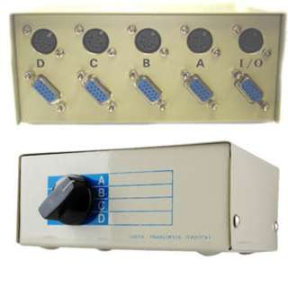 DATA SW BOX DB15FHD 4WAY ROTARY WITH OPTIONAL 5PIN KEYBOARD CONN