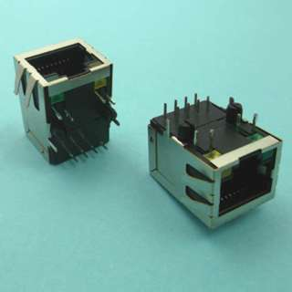 MODULAR JACK 8P8C PCRA SHLD WITH LED