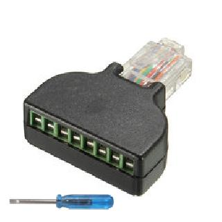 NETWORKING MODULAR RJ45 TO TERM BLOCK