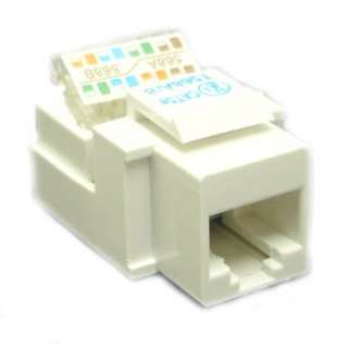KEYSTONE JACK CAT5E WHT TOOLLESS 