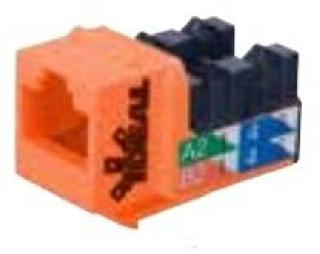 KEYSTONE JACK CAT5E ORANGE 110 