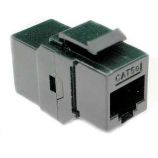 KEYSTONE COUPLER CAT5E BLK JK-JK 